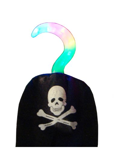 WeGlow International Light Up Pirate Hook, Set of 4 - 1