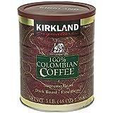Kirkland Signature 100% Colombian Filter Coffee Supremo Bean Dark Roast Fine Grind 1.36kg
