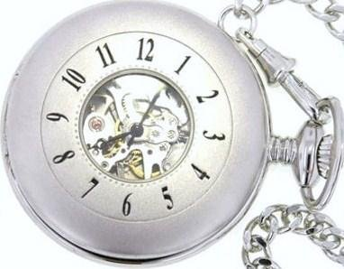 Mens Stainless Pocket Watch by Bariloche Pocket Watches 5673CP-W1