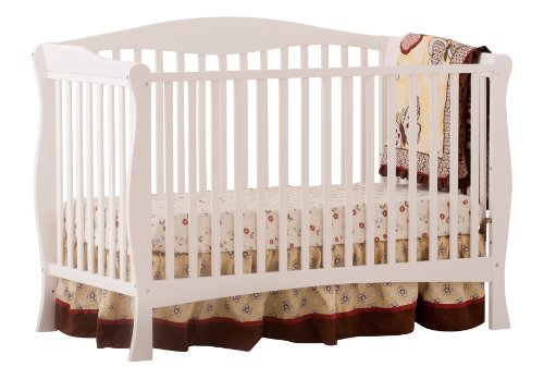 Stork Craft Savona Fixed Side Convertible Crib, White