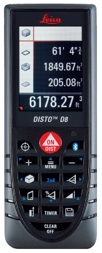 Leica DISTO 764558 D8 Hand Held Laser Distance Measurer with Bluetooth and Color Display