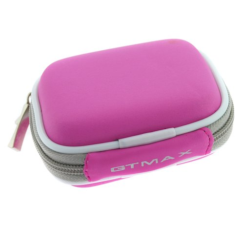 GTMax Hot Pink Bluetooth Headset Carrying Pouch Case for Plantronic M50, Discovery 975, 925, Voyager Pro+, Pro 220, 520, M20, Explorer 360, 390, 220, 233, 240, 510 m155, M100