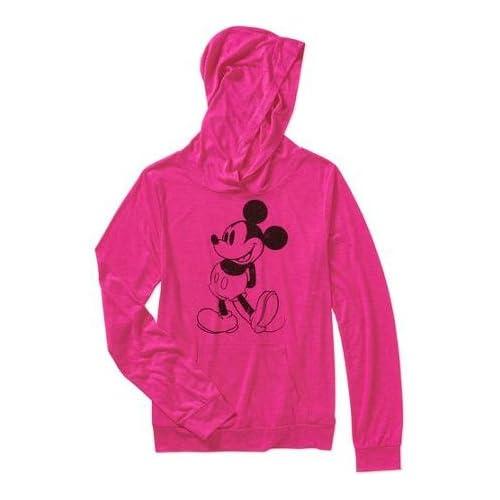 ディズニー(Disney)USA商品 ミッキーマウス フード付き パーカー 上着 洋服 アパレル ジュニア ピンク[並行輸入品]S (身長116-123cm)