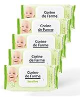 Lot de 5 paquets de lingettes nettoyantes bébé x 62