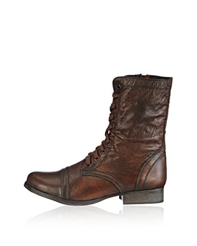 Steve Madden Troopa, Anfibi donna, Braun (BROWN (COGNAC) LEATHER), 36