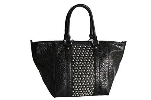 Borsa donna shopping a mano mod.grande lk.s.84490 nero moda italiana