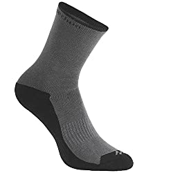 QUECHUA ARPENAZ 50 ADULT HIGH TOP HIKING SOCKS 2 PAIRS - GREY.