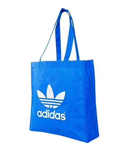 Adidas Trefoil E41588 Ca-Borsa per la spesa, colore: blu/bianco