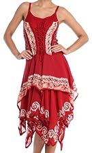 Sakkas Nakoma Batik Handkerchief Hem Dress