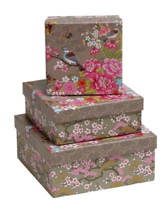 Gift Box - Coffee Flower & Bird (Set of 3)