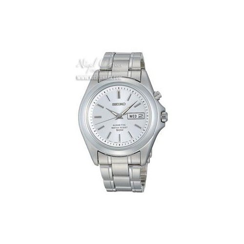 Seiko Gents Kinetic Watch with Silver Dial