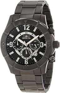 Invicta Men's 1425 Specialty Chronograph Black Dial Black Ion-Plated Stainless Steel Watch