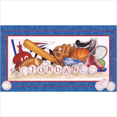 Sports Equipment Wall Art Picture Type: Create-a-Name Contemporary Mount with Beveled Edge