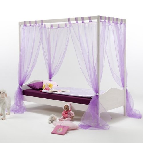 rezension himmelbett nadine 90x200 cm kinderbett m dchen. Black Bedroom Furniture Sets. Home Design Ideas