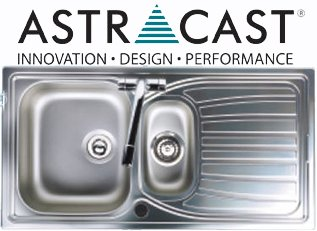 Astracast Alto 1.5 Brushed Stainless Steel Kitchen Sinks Inset