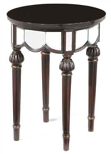 Image of Hillsdale Furniture 4752-892 Regal Elegance Mirrored End Table with Granite Top (AZ69-21404)