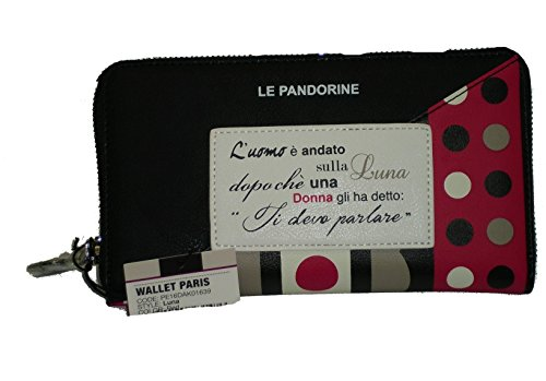 PORTAFOGLIO LE PANDORINE PAN 1639 LUNA WALLET ZIP PARIS