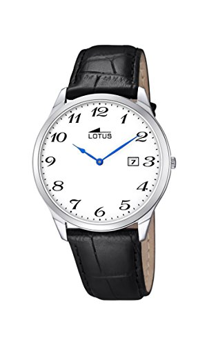 bbf5beafc Lotus - Reloj con mecanismo de cuarzo para hombre color blanco esfera  analógica pantalla y correa