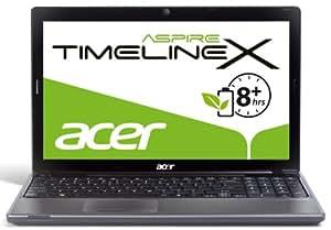 Acer Aspire TimelineX 5820TG-484G75Mnks 39,6 cm (15,6 Zoll) Notebook (Intel Core i5 480M, 2,6GHz, 4GB RAM, 750GB HDD, AMD HD 6550, DVD, Win 7 HP) schwarz/silber