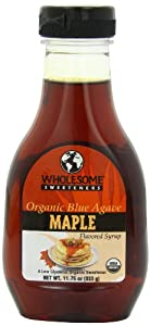 Wholesome Sweeteners Organic Blue Agave, Maple Flavored, 11.75-Ounce Bottles (Pack of 6)