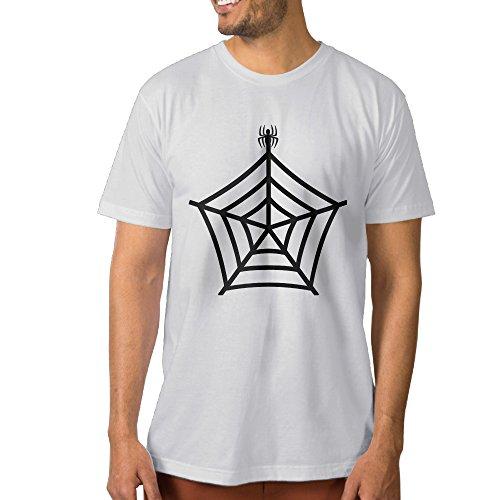 VOLTE Spider Web Men's Graphic Tees XXL White