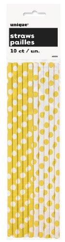 polka-yellow-straws-10pk