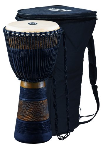 Meinl ADJ3-L BAG Original African Style Rope Tuned Wood Djembe Brown Black 12-InchB001D4KVZQ : image