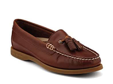 Sperry Top-Sider Eden Leather Boat Shoe, Tobacco, 5 M