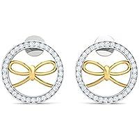 Zivario Circular bow shaped earring for women