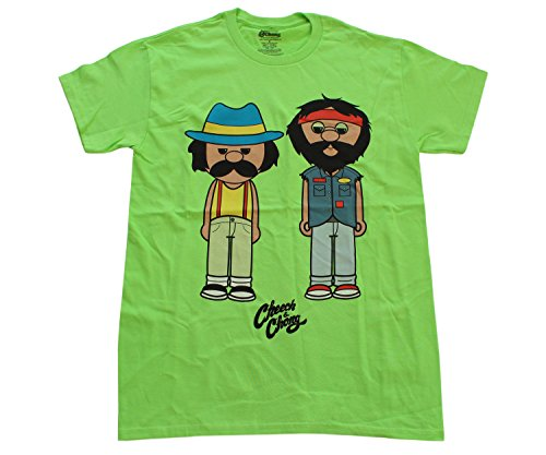 Cheech-Chong-Anime-Characters-Cotton-Mens-T-Shirt