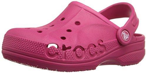 crocs Baya Kids Clog (Toddler/Little Kid), Raspberry, 10/11 M US Little Kid