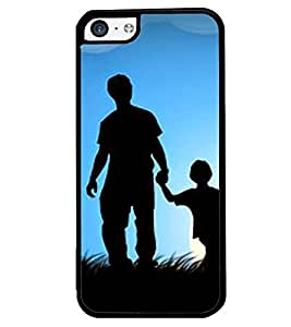 Printvisa Father Son In Moonlight Back Case Cover for Apple iPhone 5C