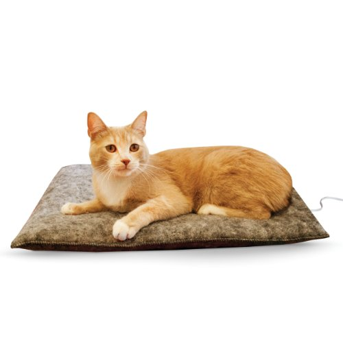 K&H Manufacturing Amazin' Thermo-Kitty Pad 15-Inch by 20-Inch Gray 4 Watts