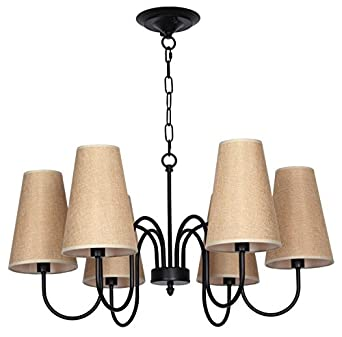 Sliver Vintage 6 Lights Dining Living Room Ceiling Light Fixture Lamp Ama