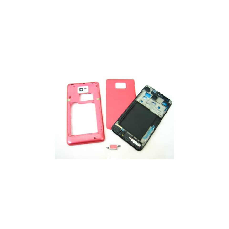Samsung Galaxy S2 i9100 ~ Pink Cover Housing ~ Mobile Phone Repair Part Replacement