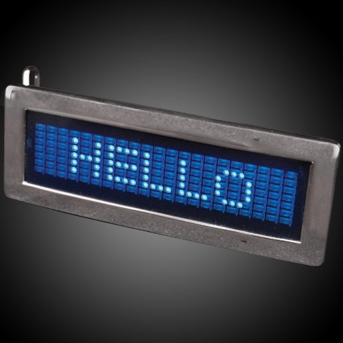 Blue Scrolling Text LED Belt Buckle