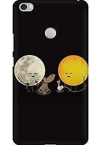 AMEZ designer printed 3d premium high quality back case cover for Xiaomi Mi Max (sun moon doodle)