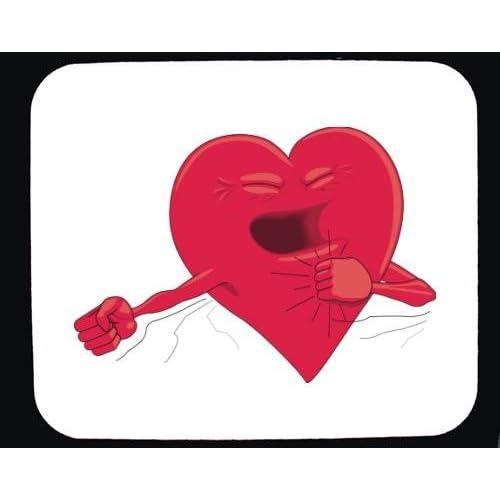Amazon.com : Custom mouse pad with artwork: healthy heart cartoon