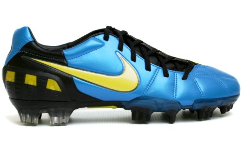 Nike Total90 Laser III K-FG Mens Soccer Cleats [385423-471] Neptune Blue/Vibrant Yellow-Black Mens Shoes 385423-471-10