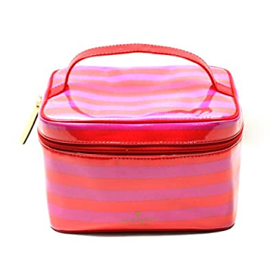 Kate Spade Small Natalie Sweetshoppe Stripe Cosmetic Bag/ Pouch (Pink