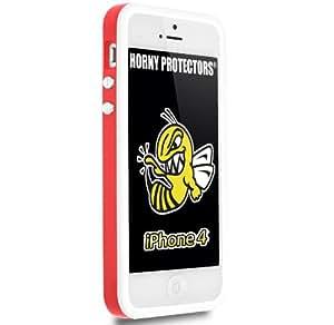 Horny Protectors Bumper für Apple iPhone 4 rot/weiß mit Metallbutton