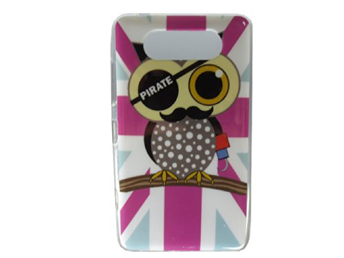"""Rose Union Jack Flag Pirate Owl Tpu Case For Nokia Lumia 820 (Package Includes: 1 X Screen Protector And Stylus Pen Image""""Gift_Source"""")"""