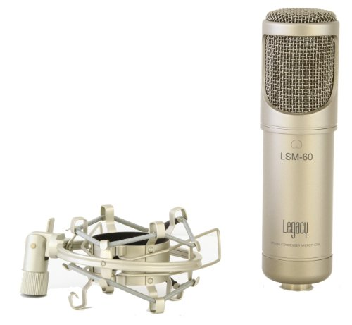 Legacy Lsm-60 Studio Condenser Microphone With Shock Mount And Case