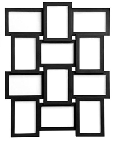 stylish-black-photo-picture-frame-holds-12-photos-aperture-multi-collage-4-x-6