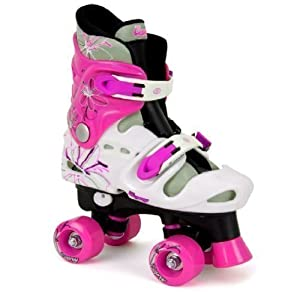 OSPREY GIRLS QUAD SKATES PADDED KIDS ROLLER BOOTS ADJUSTABLE SIZE 13-3 HOT PINK