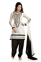 Ethnic For You Women's Cotton Salwar Suit Dress Material(ETH5240_White)