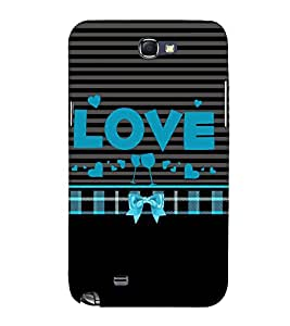 Love is Where You Party 3D Hard Polycarbonate Designer Back Case Cover for Samsung Galaxy Note i9220 :: Samsung Galaxy Note 1 N7000