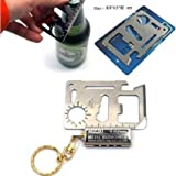 Outdoor Multi Function Mini Emergency Survival Credit Card Knife camping Tool 11 in 1