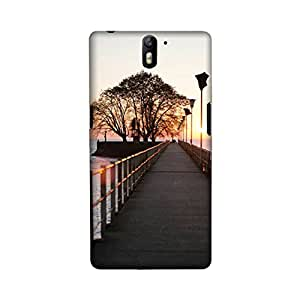 OnePlus One Perfect fit Matte finishing Beach Nature Mobile Backcover designed by Aaranis(Multicolor)