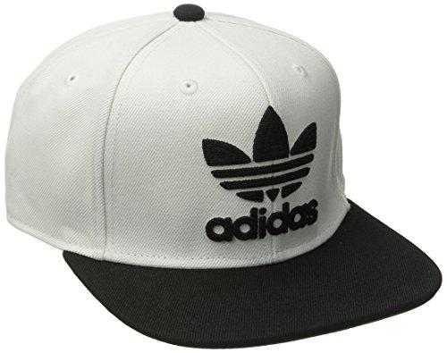 adidas Men's Originals Snapback Flat Brim Cap, Thrasher Design/White/Black, One Size